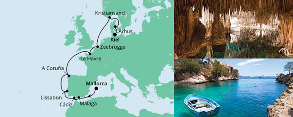 Routenverlauf Von Mallorca nach Kiel 2 am 03.05.2021