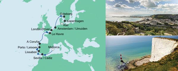 AIDA Seetours Angebot Von Mallorca nach Kiel 2