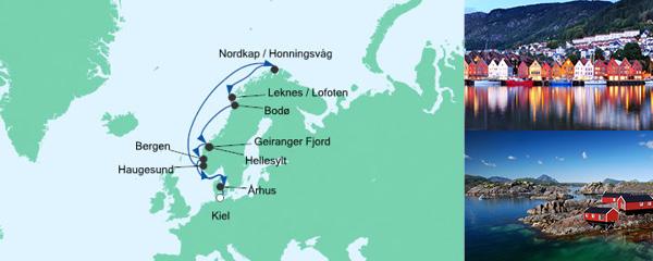 AIDA Spezialangebot Norwegen mit Lofoten & Nordkap