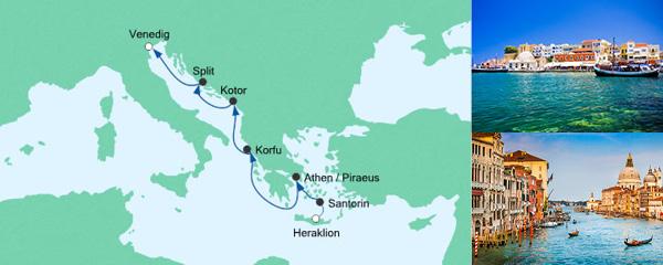 AIDA Pauschal Angebot Von Kreta nach Venedig