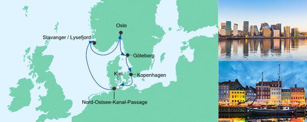AIDA Pauschal Angebot Skandinavische Städte 1