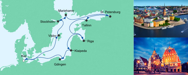 AIDA Seetours Angebot Große Ostsee-Reise