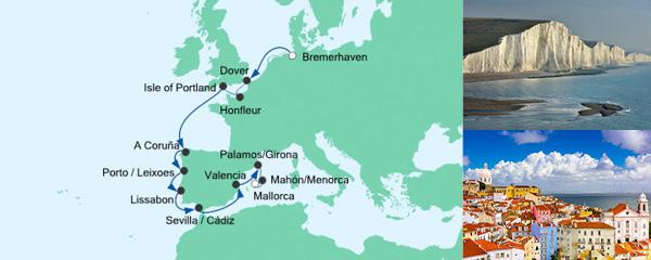 AIDA Spezialangebot Von Bremerhaven nach Mallorca