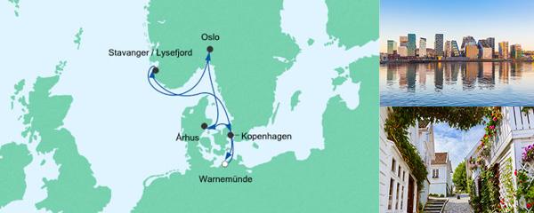 AIDA Seetours Angebot Skandinavische Städte ab Warnemünde