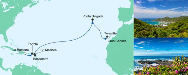 AIDA Angebot Von der Dominikanischen Republik nach Gran Canaria