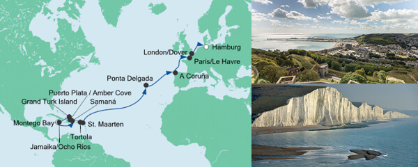 AIDA Seetours Angebot Von Jamaika nach Hamburg 1
