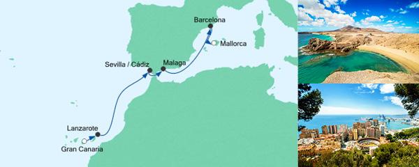 AIDA VARIO Kurzfristverkauf Von Gran Canaria nach Mallorca 4