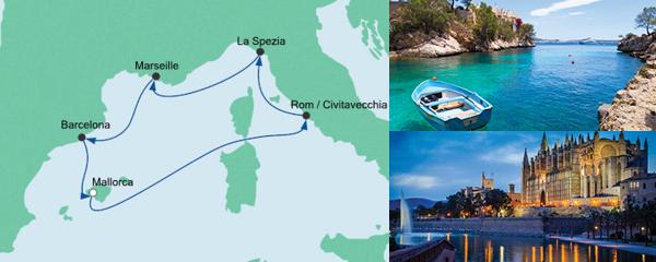 Routenverlauf Mediterrane Schätze ab Mallorca am 24.10.2020
