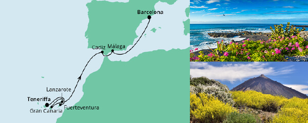 AIDA Seetours Angebot Von Teneriffa nach Barcelona 2