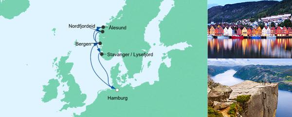 AIDA VARIO Kurzfristverkauf Norwegens Küste 1