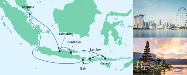 AIDA Spezialangebot Singapur & Indonesien mit Bali