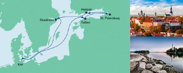 Routenverlauf Ostsee 3 am 10.08.2019