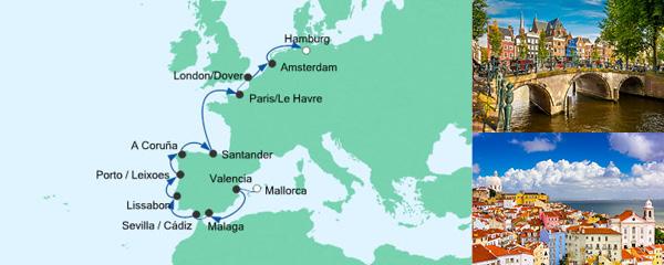 AIDA Spezialangebot Von Mallorca nach Hamburg 2