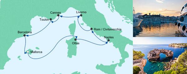 Routenverlauf Mediterrane Highlights 2 am 15.08.2019