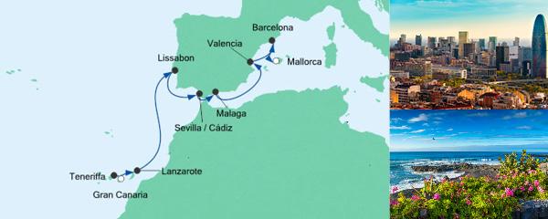 AIDA Seetours Angebot Von Gran Canaria nach Mallorca 3