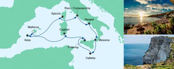 AIDA Spezialangebot Italien & Mittelmeerinseln