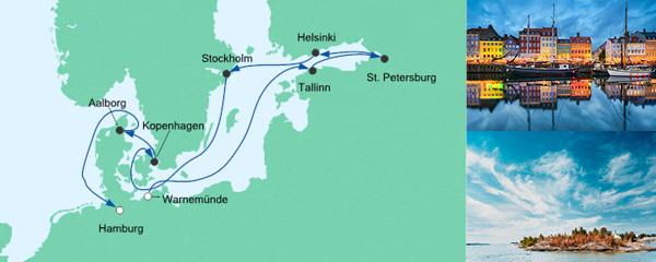 AIDA Wochenendeinkauf Angebot Baltikum und Skandinavien 2