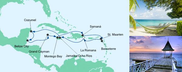 AIDA Pauschal Angebot Karibik & Mexiko 1