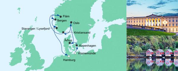 AIDA Verlockung der Woche Angebot Norwegen & Dänemark 1