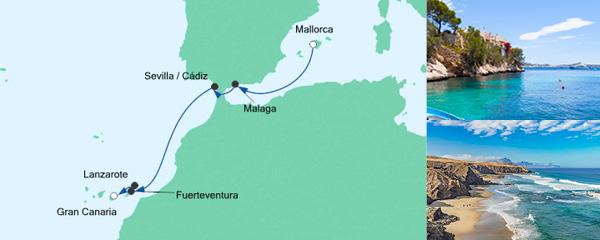 AIDA Spezialangebot Von Mallorca nach Gran Canaria 4