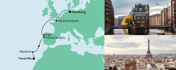 AIDA Pauschal Angebot Von Teneriffa nach Hamburg 2