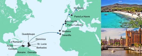 Mein Schiff Special EURESAreisen Von der Dominikanischen Republik nach Hamburg 2