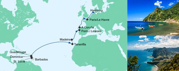 AIDA Pauschal Angebot Von Barbados nach Hamburg 2