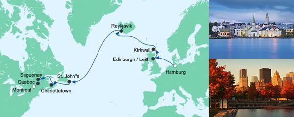 AIDA Angebot Von Hamburg nach Montreal