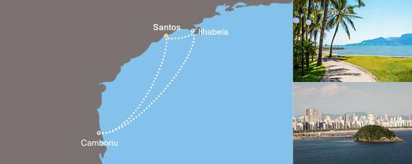 Routenverlauf Sonniges Brasilien am 10.12.2018