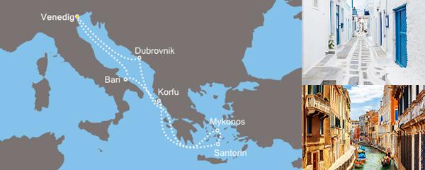 7 Tage Blaue Adria und bezaubernde Inseln mit der Costa Deliziosa