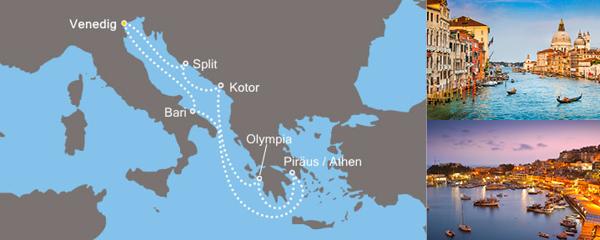 Routenverlauf Von der Adria nach Griechenland am 27.04.2019