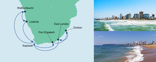 Routenverlauf Südafrika & Namibia 1 am 23.12.2019