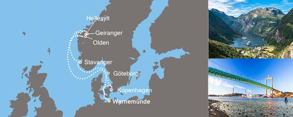 Routenverlauf Land der Wikinger am 14.06.2019