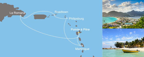 7 Tage Karibisches Meer mit der Costa Favolosa