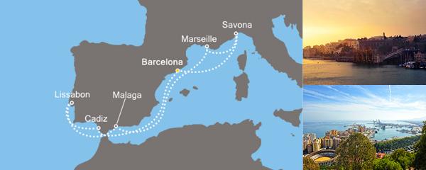 Routenverlauf Entzückendes Mittelmeer am 20.09.2019
