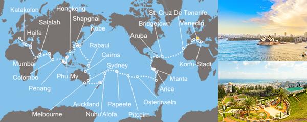 Costa Deliziosa Auf Kreuzfahrt zu tausend Horizonten
