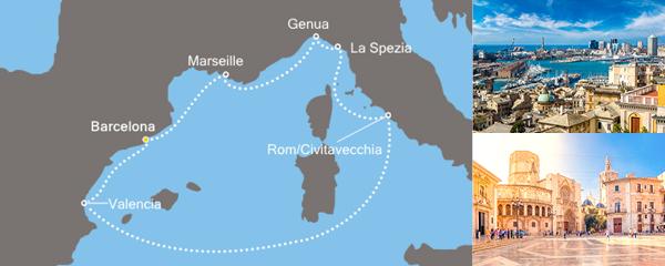 Routenverlauf Das Herz des Mittelmeers am 07.04.2019