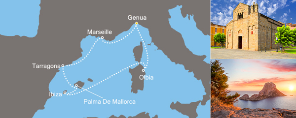 Routenverlauf Costa Der Rhythmus der Balearen