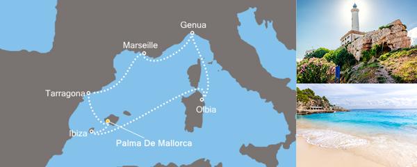 7 Tage Der Rhythmus der Balearen mit der Costa Fortuna