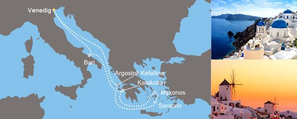 7 Tage Griechische Inseln mit der Costa Luminosa
