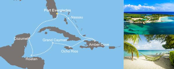 Routenverlauf Magische Karibik am 12.12.2019