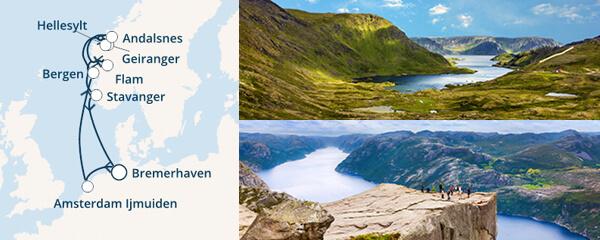 Routenverlauf Zauber der Fjorde am 05.07.2019
