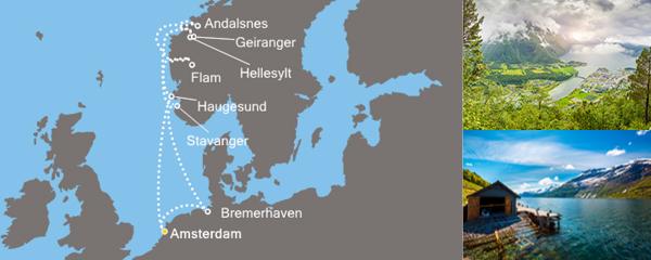 Routenverlauf Zauber der Fjorde am 26.05.2019