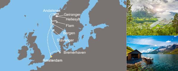 Routenverlauf Zauber der Fjorde am 04.06.2019