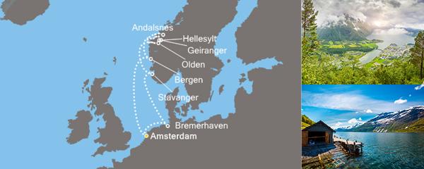 Routenverlauf Zauber der Fjorde am 13.06.2019