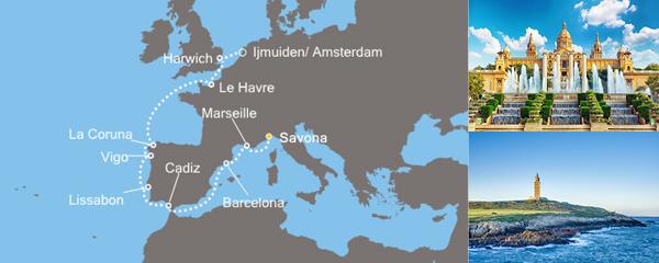 Routenverlauf Postkarten aus Europa am 27.03.2019