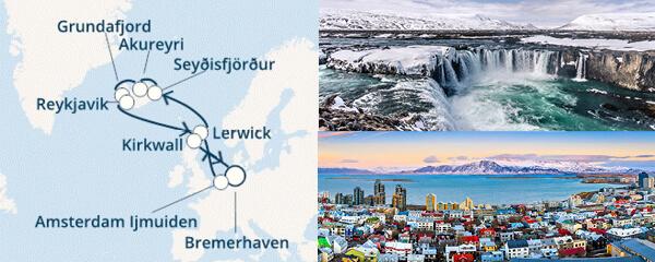 Routenverlauf Costa Isländische Legenden