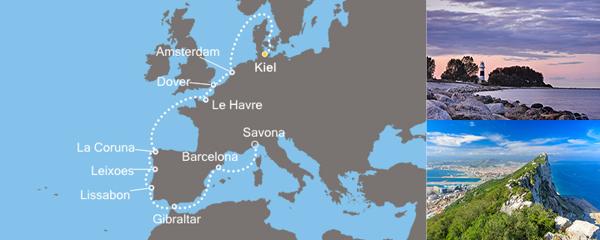 Routenverlauf Europa von Nord nach Süd am 10.09.2019