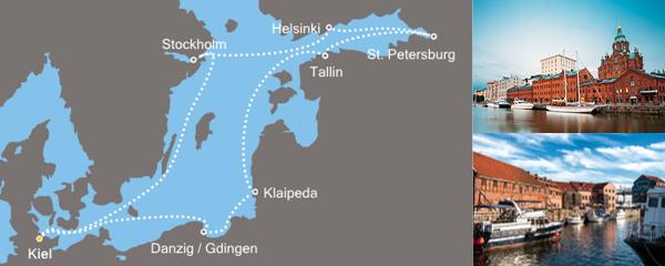 Routenverlauf Metropolen des Nordens am 09.07.2019