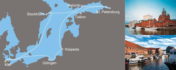 Routenverlauf Metropolen des Nordens am 30.07.2019